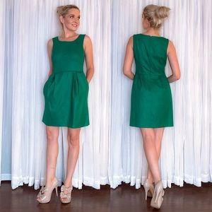 J Crew Green Party Dress